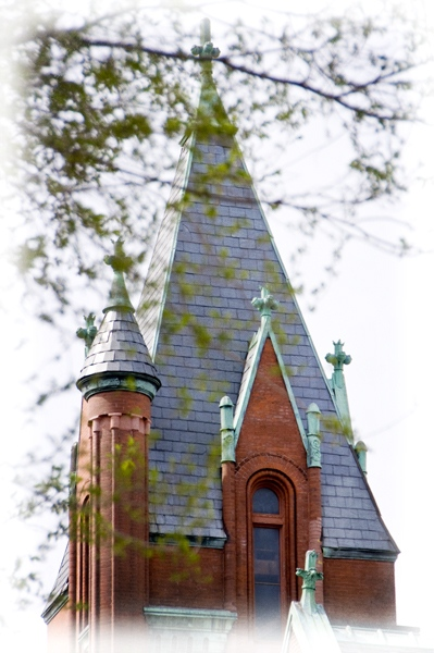 Church Steeple in Springtime