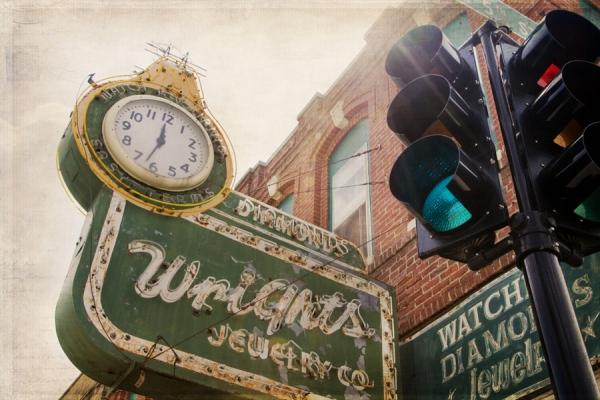 Wright's Jewelry Story Sign - St. Joseph, MO