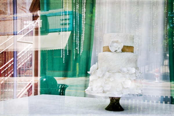 Wedding Cake in the Window